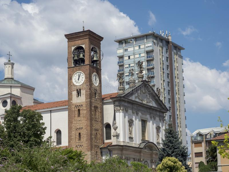 Busto Arsizio, Italie : Église de San Michele Arcangelo images stock