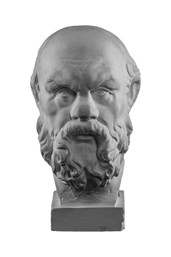 Busto bianco del gesso, ritratto scultoreo di Socrates fotografia stock