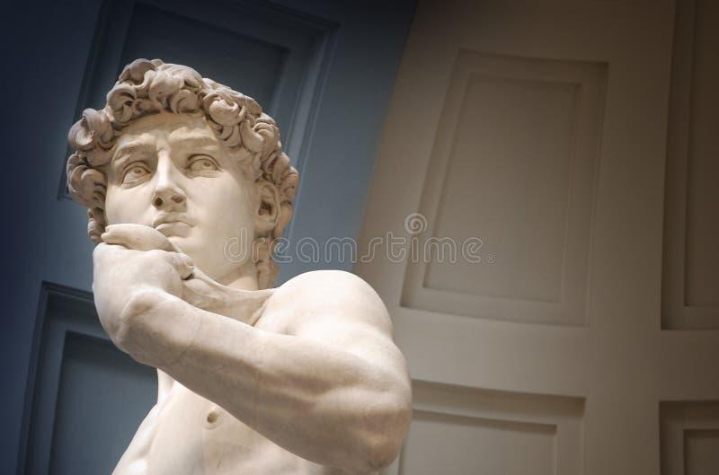 Busto da escultura de David foto de stock