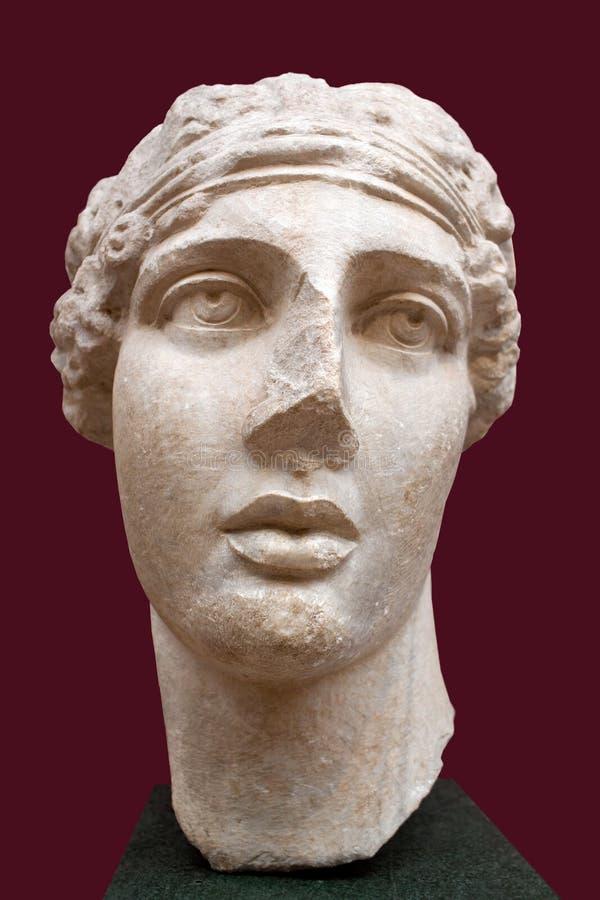 Busto da poetisa Sappho, poeta grego arcaico imagens de stock royalty free