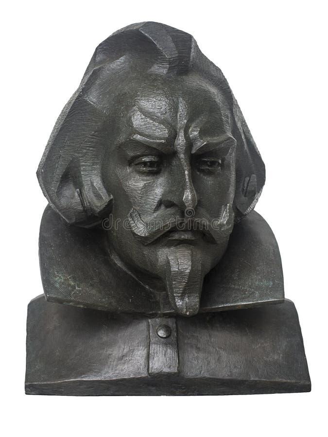Busto de bronze de Francisco de Zurbaran fotografia de stock royalty free