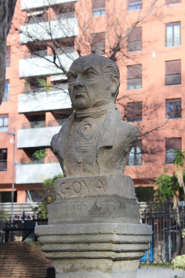Busto de Francisco Goya foto de archivo libre de regalías