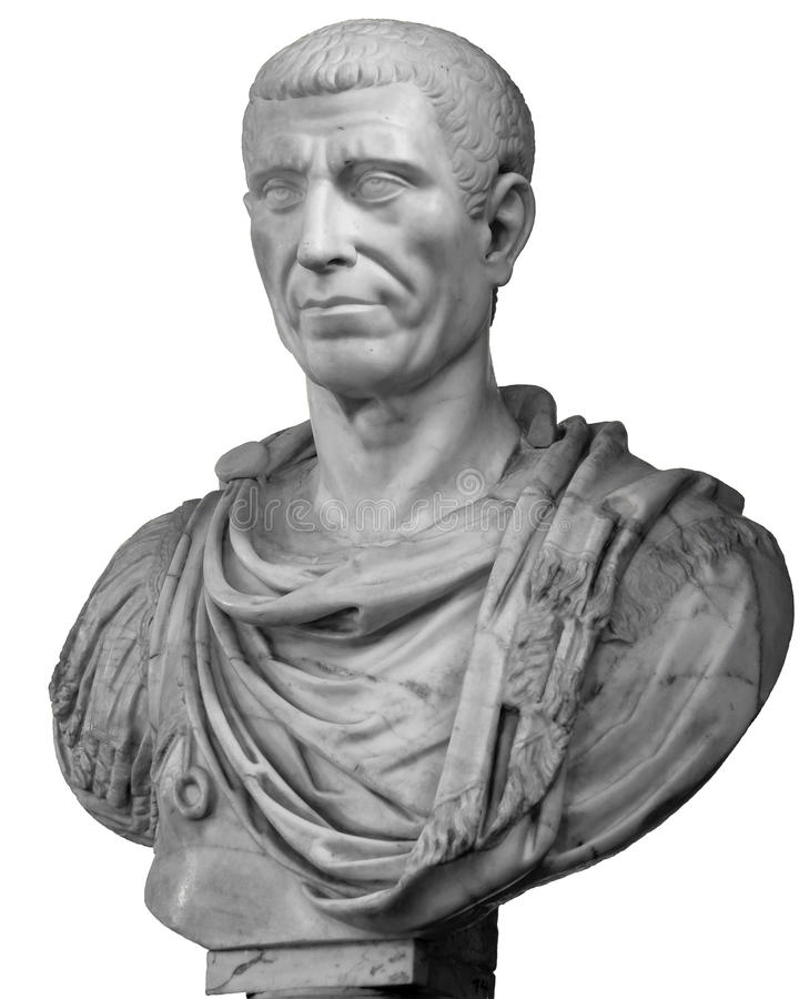 Busto de Gaius Julius Caesar fotografia de stock royalty free