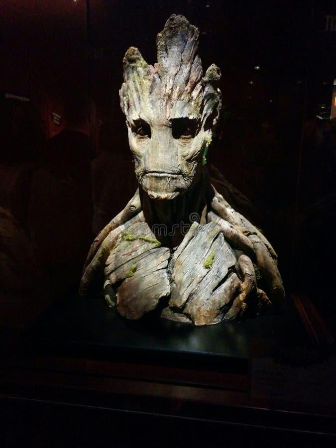 Busto de Groot en el objeto expuesto de MoPOP en Seattle imagen de archivo