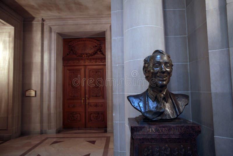 Busto de Harvey Milk, San Francisco City Hall foto de stock royalty free