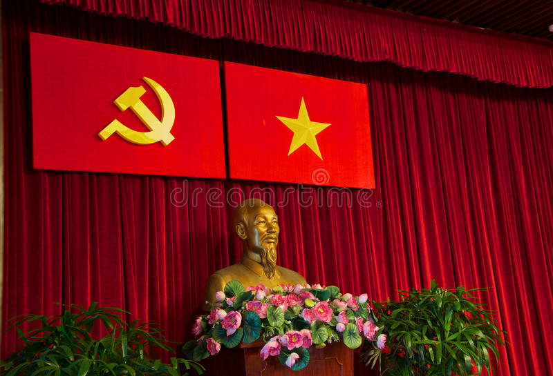 Busto de Ho Chi Minh fotografía de archivo libre de regalías