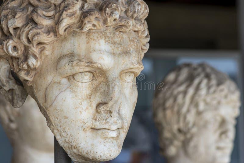 Busto de la mujer desconocida griega femenina imagen de archivo