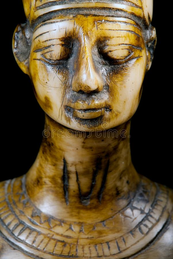 Busto de la reina Nefertiti fotos de archivo