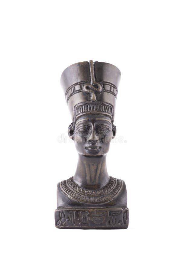 Busto de la reina Nefertiti en el fondo blanco foto de archivo