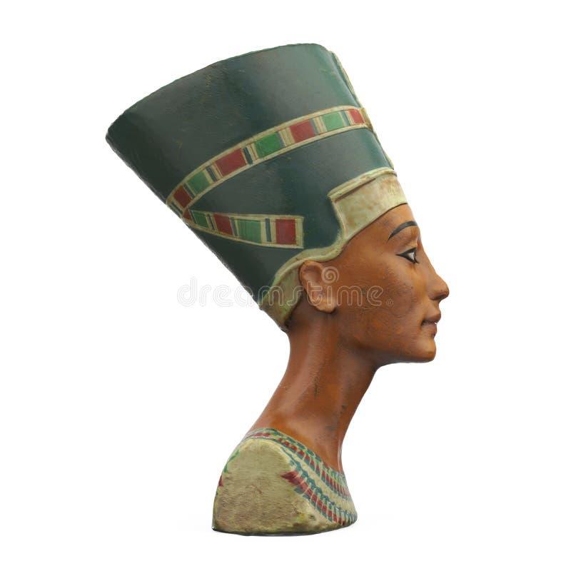 Busto de la reina Nefertiti Isolated stock de ilustración
