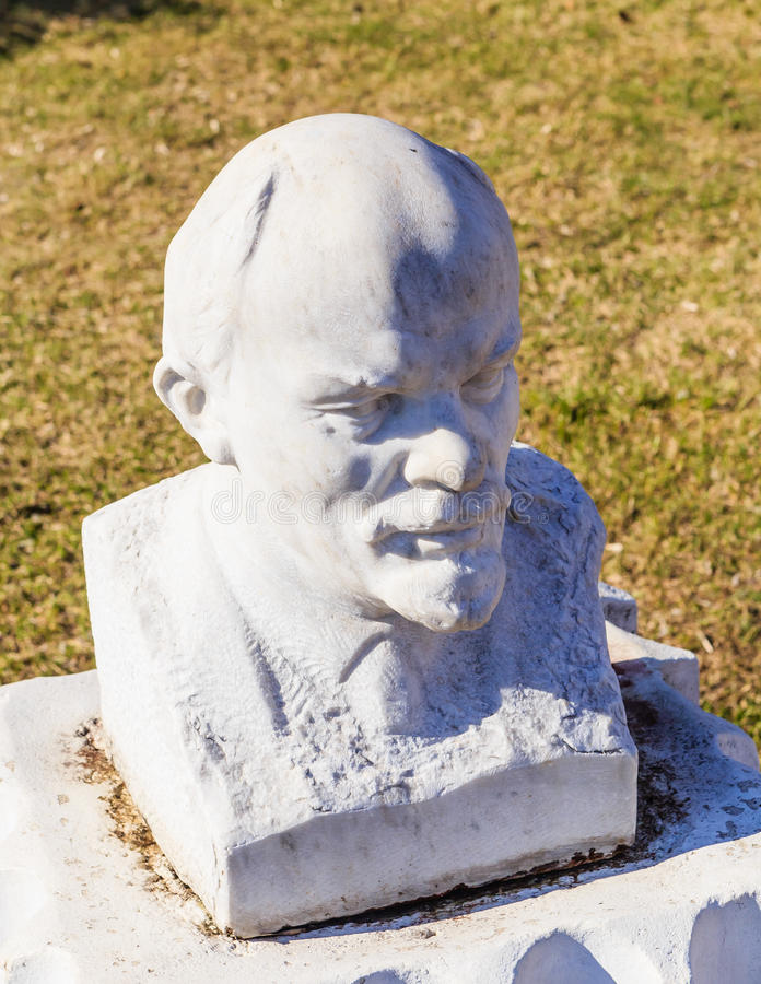 Busto de Lenin Parque de ` de Museon del ` de los artes moscú imagen de archivo libre de regalías