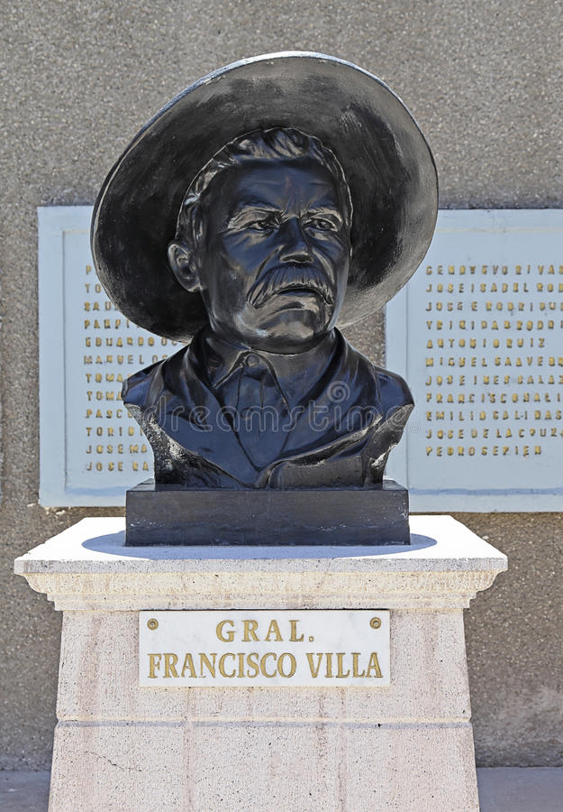Busto de Pancho Villa foto de stock royalty free