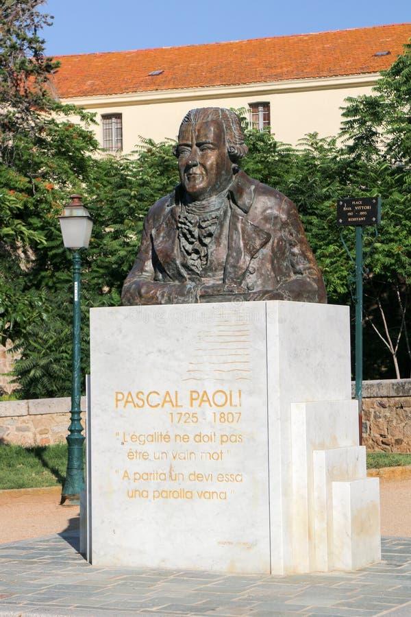 Busto de Pascal Paoli en Ajacio imágenes de archivo libres de regalías