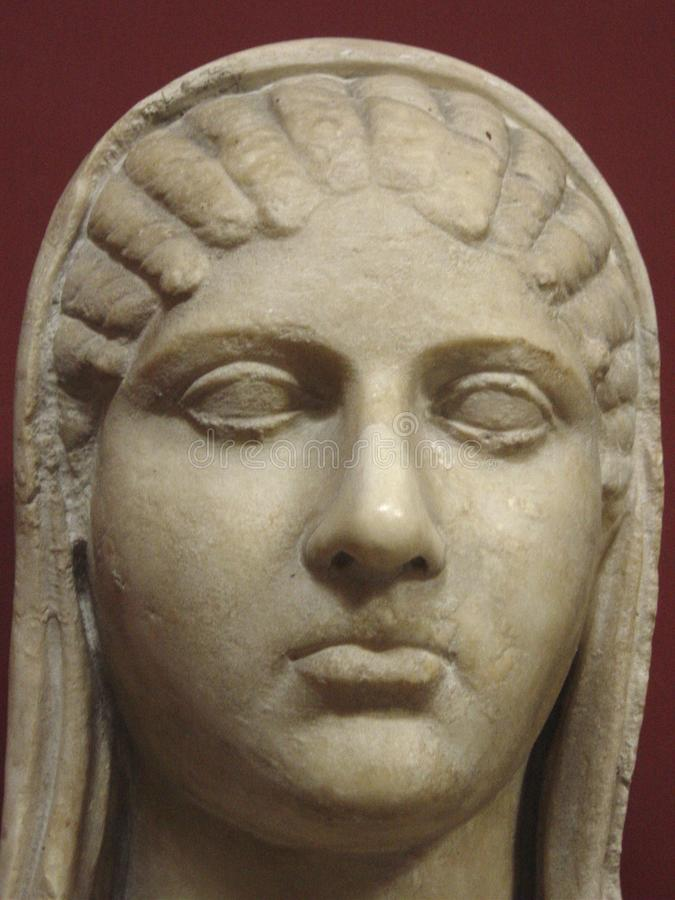 Busto del amante y del socio Roman Vatican Museum Rome Italy de Aspasia Pericles imágenes de archivo libres de regalías