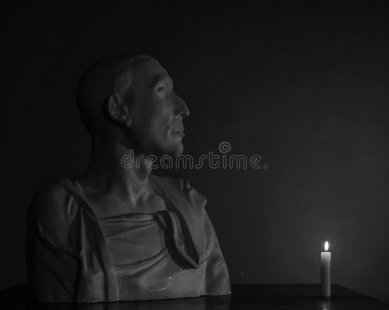 Busto del gesso di Uzun fotografia stock libera da diritti