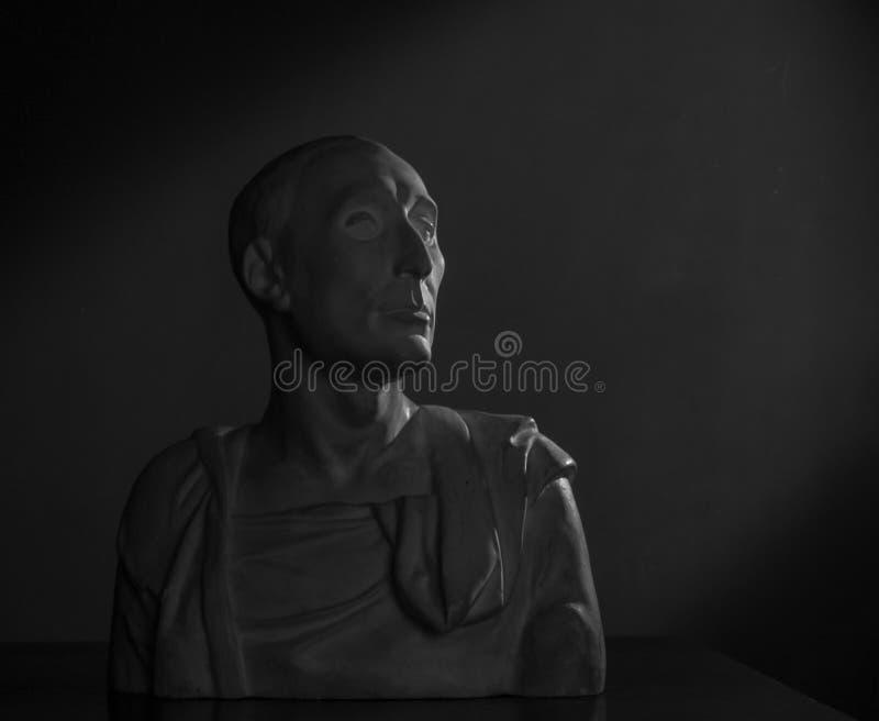 Busto del gesso di Uzun immagine stock