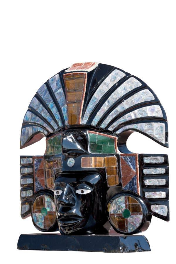 Busto della divinità azteca antica immagine stock