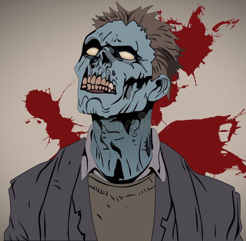 Busto dello zombie royalty illustrazione gratis