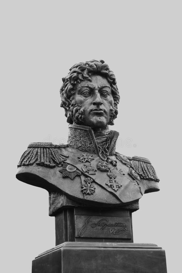 Busto di generale Peter Bagration fotografia stock libera da diritti