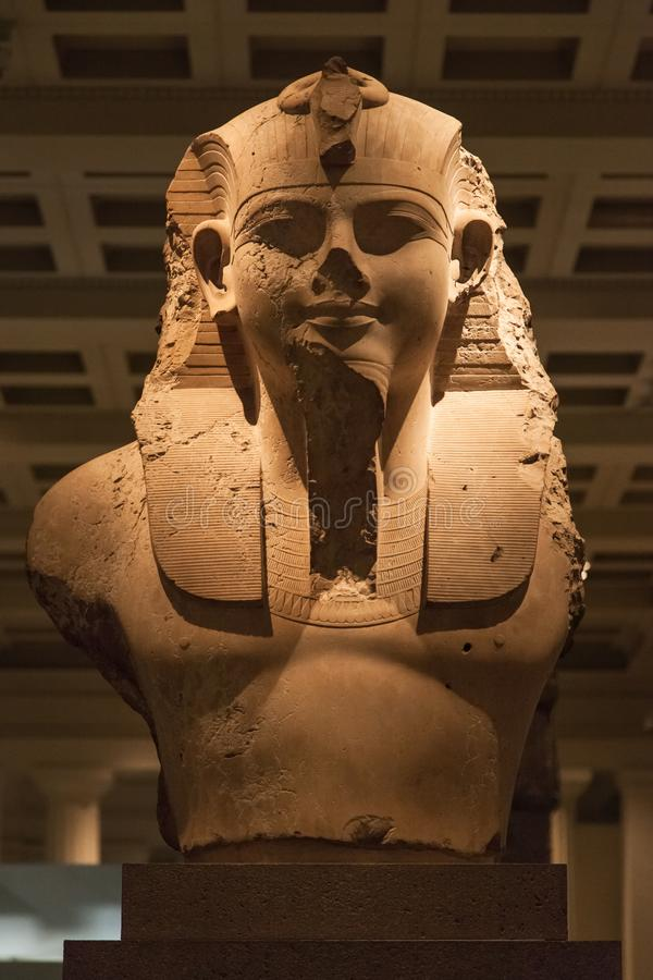 Busto di re Amenhotep III fotografia stock