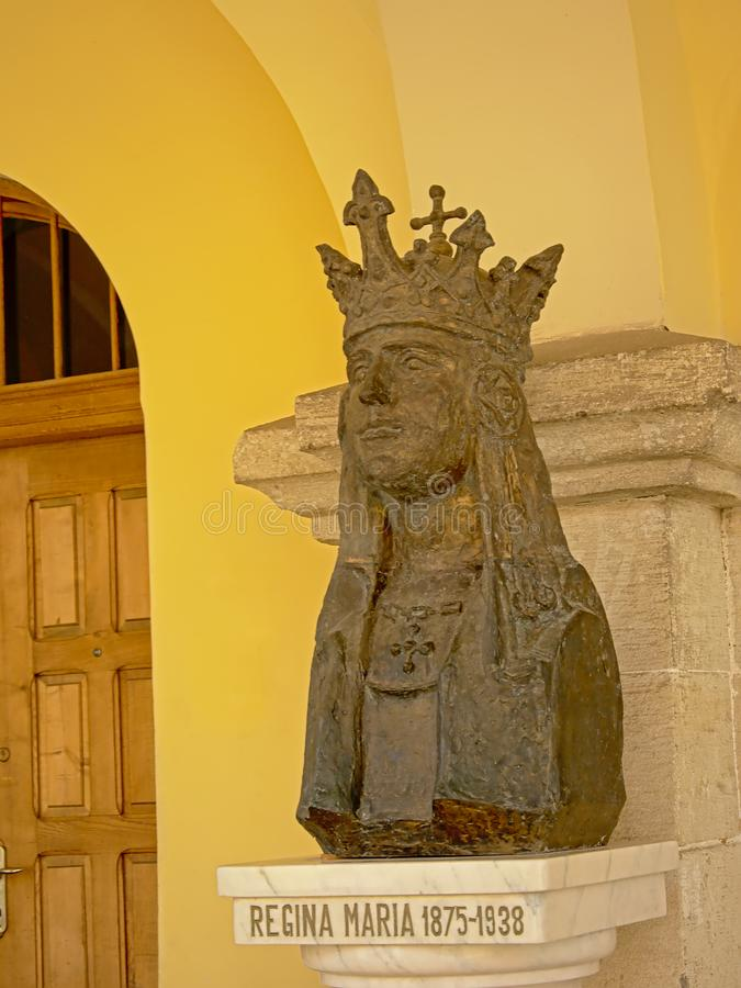 Busto di Regina Maria, regina della Romania immagini stock libere da diritti