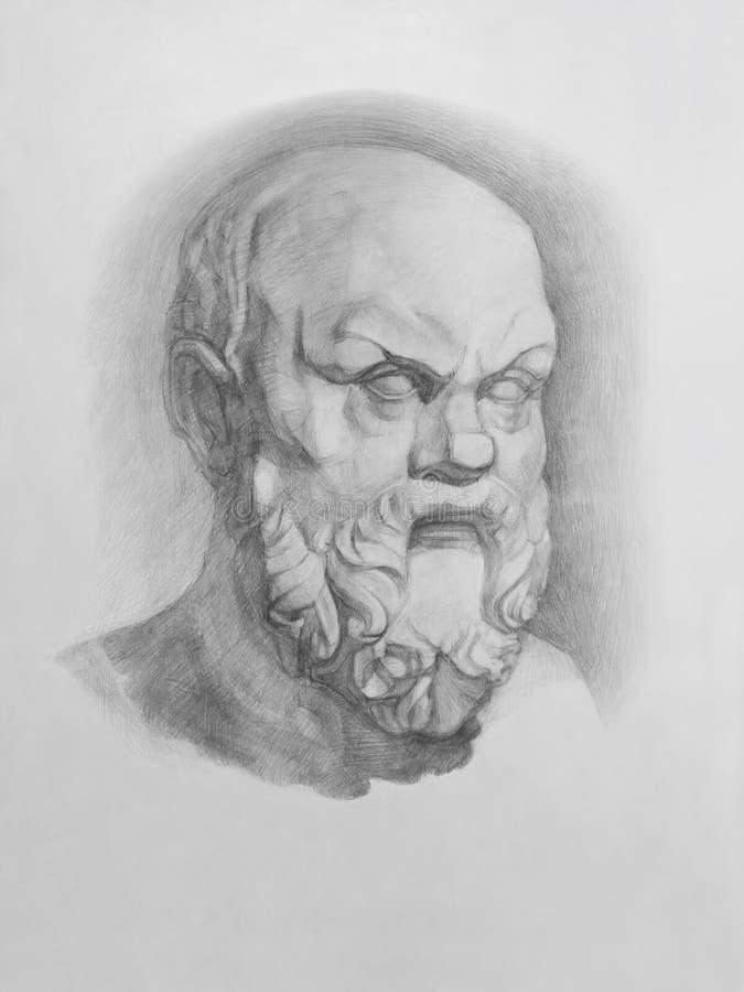 Busto di Socrates illustrazione di stock