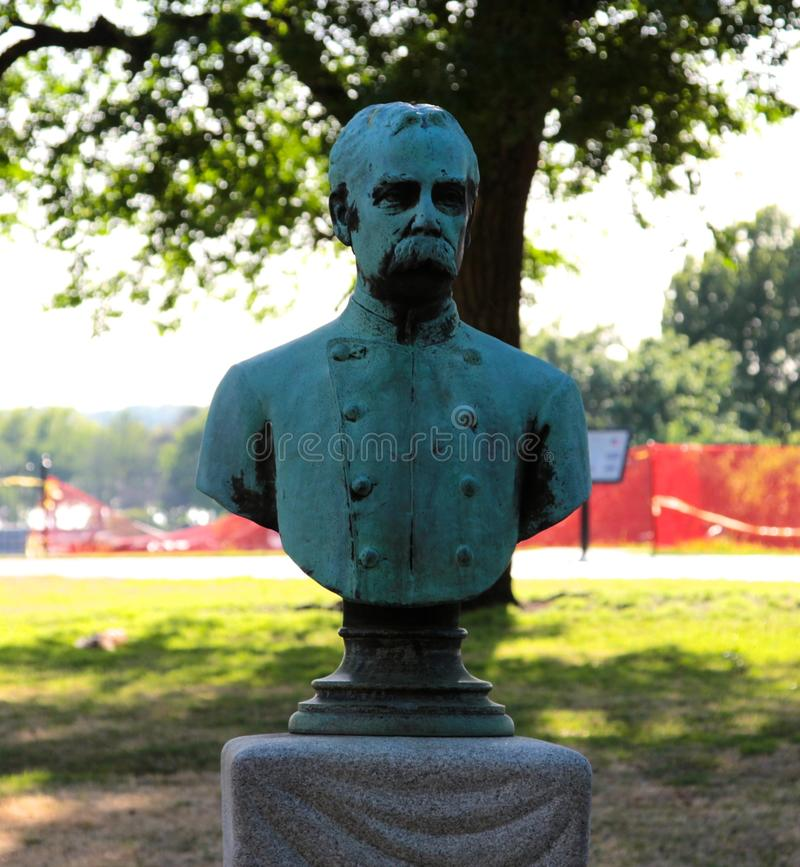 Busto do capitão James Harvey Mathes, C.S.A fotografia de stock royalty free