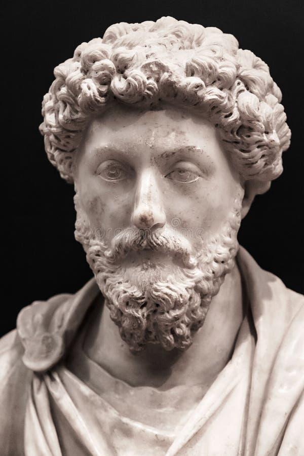 Busto do imperador Marcus Aurelius imagem de stock