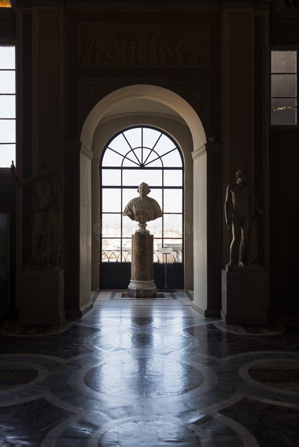 Busto do papa Pius VI foto de stock