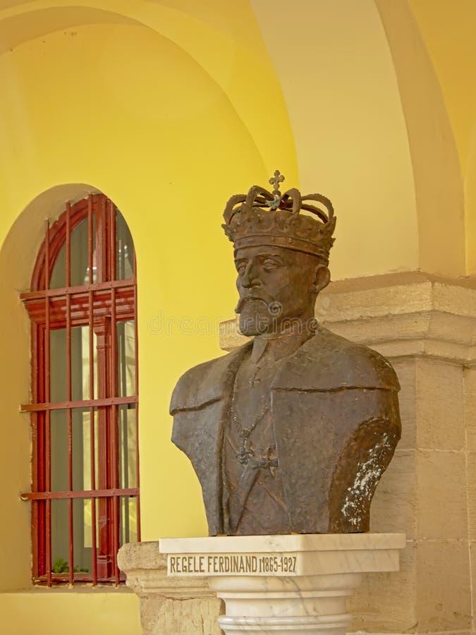 Busto do rei Ferdinand Eu de Romênia imagem de stock royalty free
