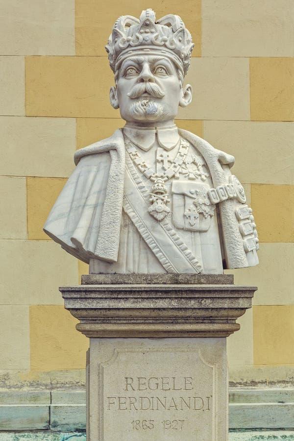 Busto do rei Ferdinand Eu de Romênia foto de stock