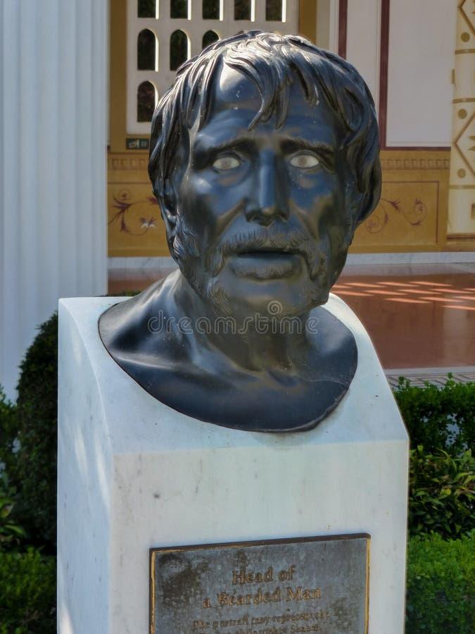 Busto do Seneca fotos de stock royalty free