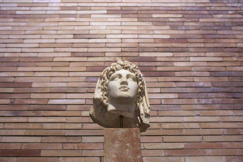 Busto romano do imperador Augustus imagem de stock