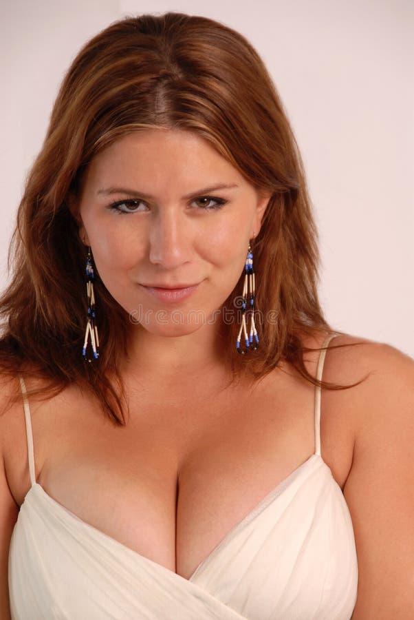 busty женский портрет стоковая фотография rf