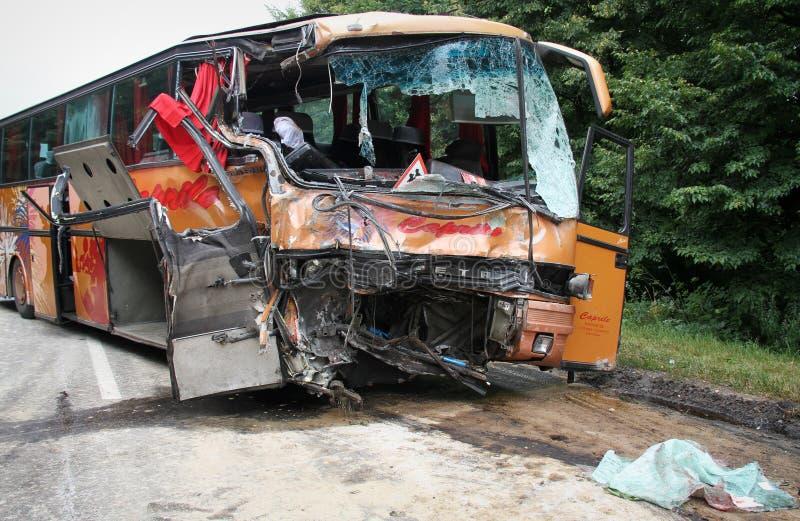 Busunfall stockbilder