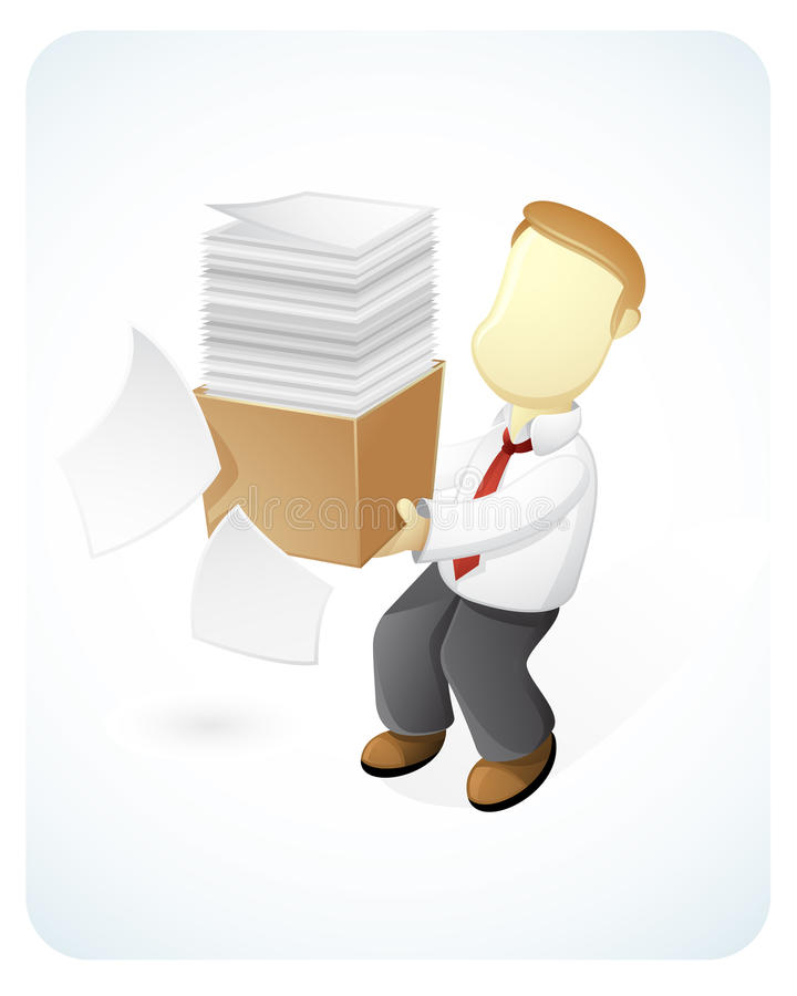 Download So Busy stock illustration. Image of paper, character - 25220960