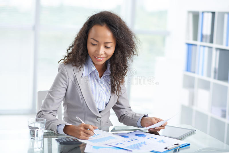 Busy with accounting stock photography
