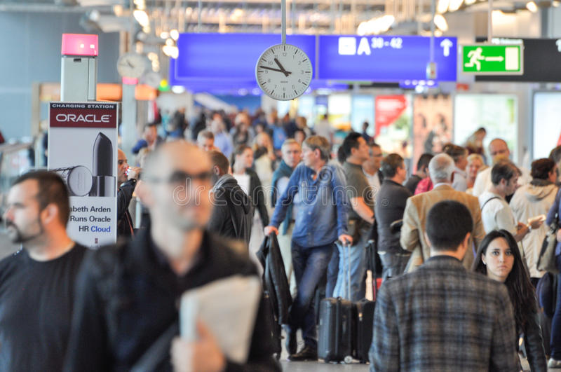 Busy airport. Busy Frankfurt International Airport, Germany stock images