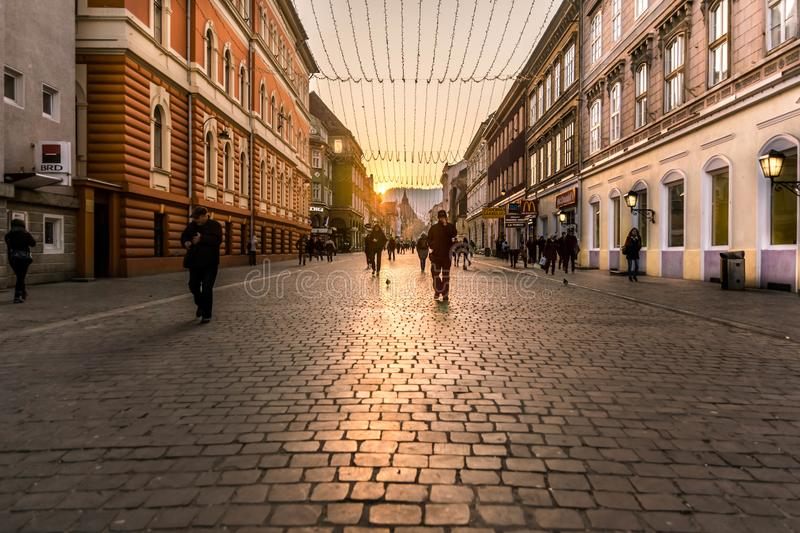 Busy alley. A busy alley in one of the most beautiful city`s. Thanks for visiting my profile royalty free stock image