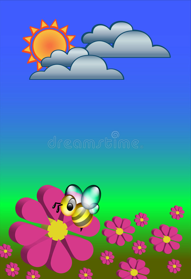Download Busy Bee stock illustration. Image of colours, sunny, work - 1059447