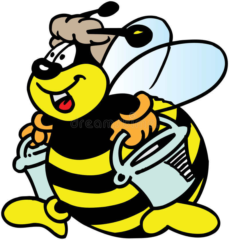 Download Busy Bee stock illustration. Image of collecting, character - 8774935