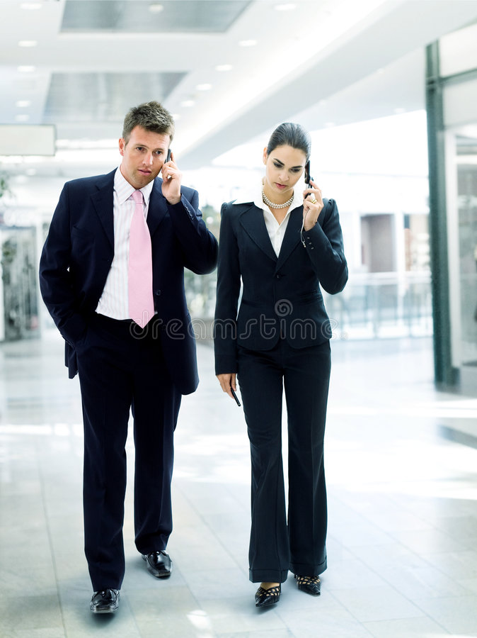 Busy business people stock images