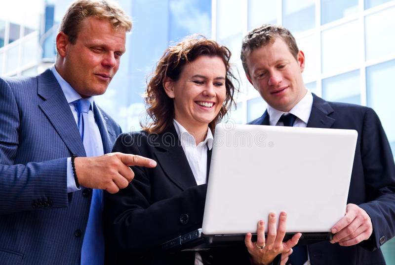 Busy business people royalty free stock image
