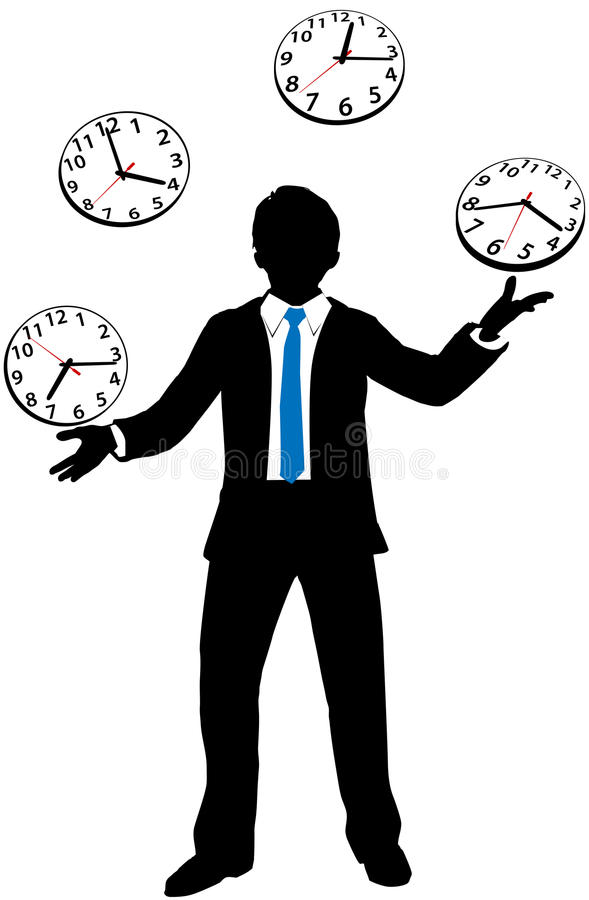 Download Busy Business Person Juggles Time Clock Stock Vector - Illustration: 27043649