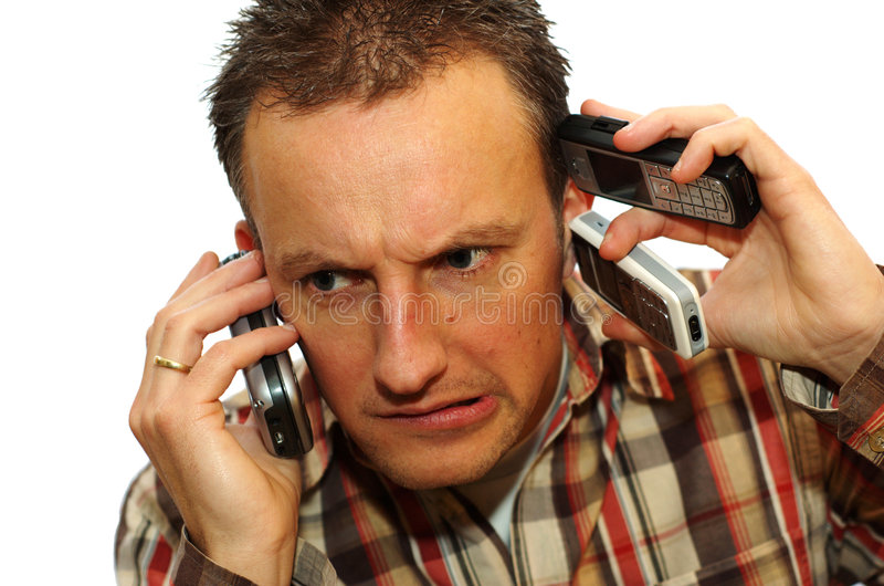 Busy businessman royalty free stock images