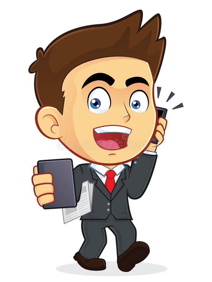 Busy Businessman stock illustration