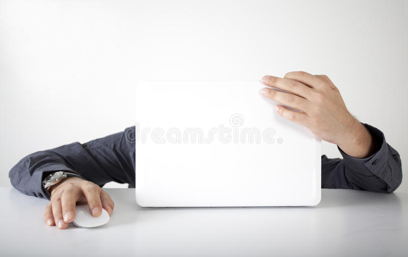 Download Busy Businessman With Computer Stock Photo - Image: 26658412