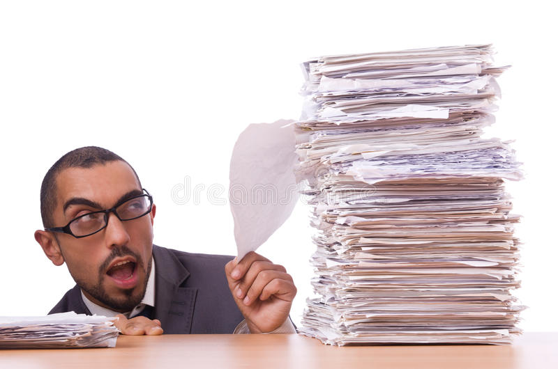 Download Busy businessman stock photo. Image of folder, isolated - 31601238