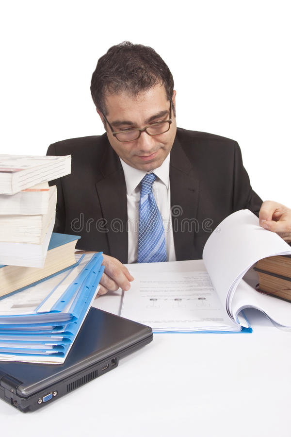 Download Busy Businessman working stock image. Image of eyeglass - 16049757