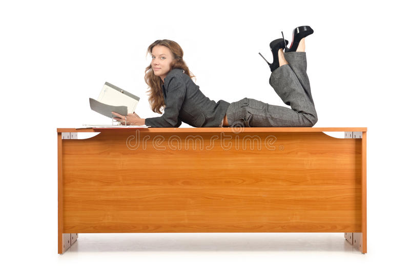 Busy Businesswoma Royalty Free Stock Photo